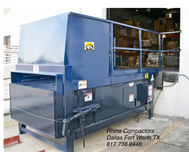 Rhino Compactors, Balers and Self-Dumping Hoppers/Carts. Dallas Fort Worth Texa