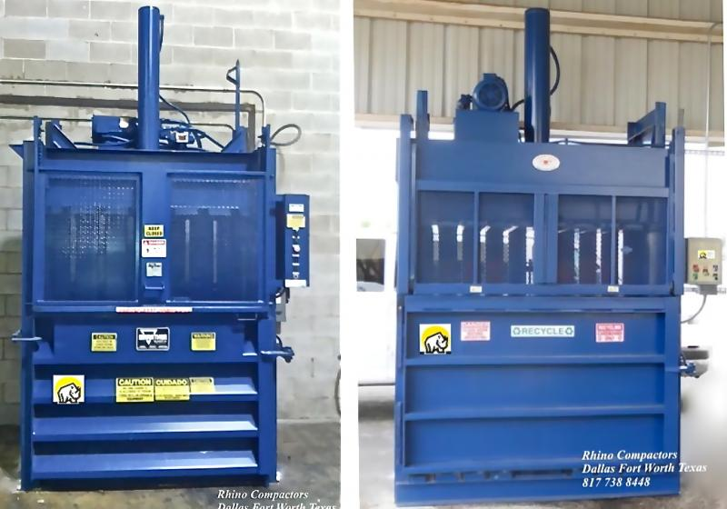 Rhino Compactors. Dallas Fort Worth TX (817) 738 8448 Compactors, and Balers Was
