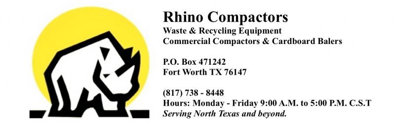 Rhino Compactors and Balers, Dallas Fort Worth Houston Austin Texas 817 738 8
