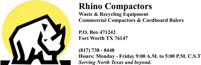 Rhino Compactors Dallas Fort Worth Texas 817 738-8448 Compactors & Balers
