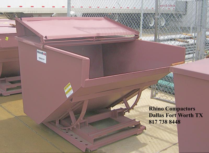 Rhino Compactor Self Dumping Hoppers, Trash Carts 817 738 8448 North Texas